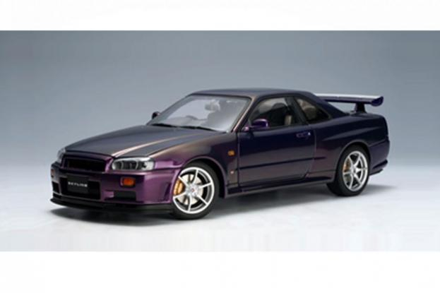 Autoart Nissan Skyline GT-R R34 V-Spec Purple