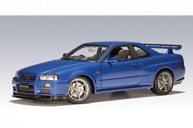 Autoart Nissan Skyline R34 GTR Blue