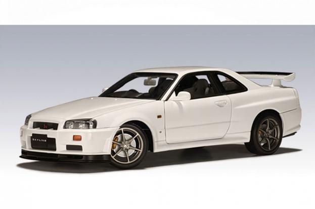 Autoart Nissan Skyline R34 GTR White