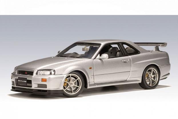 Autoart Nissan Skyline R34 GTR Silver