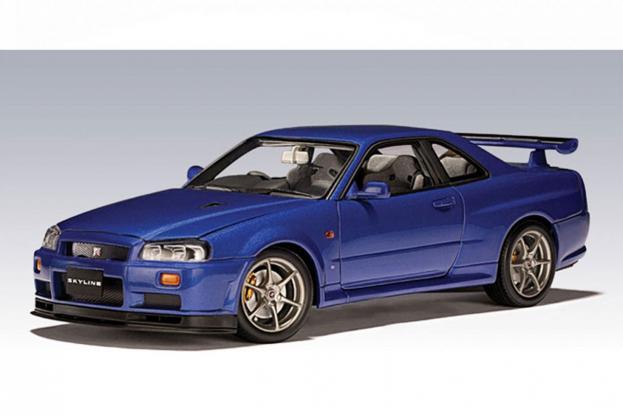Autoart Nissan Skyline GT-R R34 V-Spec Blue