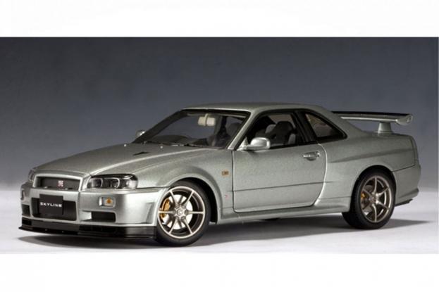 Autoart Nissan Skyline GT-R R34 V-Spec Silver
