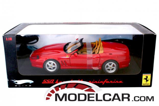 Hot Wheels Elite Ferrari 550 Barchetta Pininfarina Red