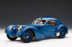 AUTOart Bugatti 57 S Atlantic 1938 Blue with Metal Spoked Wheels 70942