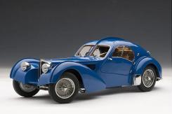 AUTOart Bugatti 57 S Atlantic 1938 Blue with Metal Wire-Spoke Wheels 70943
