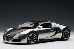 AUTOart Bugatti EB Veyron 16.4 Pur Sang 2008 Black Aluminium Casting 70966