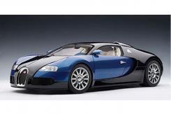 AUTOart Bugatti Veyron 16.4 Production Car Black Blue Metallic 12532