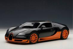 AUTOart Bugatti Veyron Super Sport World Record Black Orange Skirts 70935