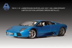 AUTOart Lamborghini Murcielago 40th Anniversary Edition 2001 Artemis Green Metallic 74515