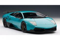 AUTOart Lamborghini Murcielago LP670-4 SV 2009 Turquoise Blue 74615