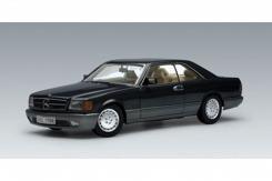 AUTOart Mercedes-Benz 500 SEC Coupe W126 1986 Black Metallic 76211
