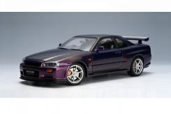 Autoart Nissan Skyline GT-R R34 V-Spec Paars