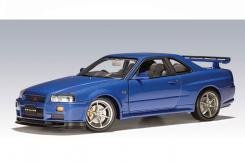 Autoart Nissan Skyline R34 GTR Blauw