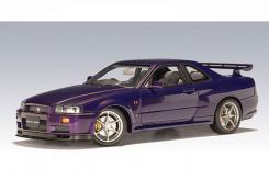 Autoart Nissan Skyline R34 GTR Paars