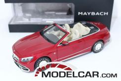 Norev Mercedes Maybach S650 A217 convertible red dealer edition