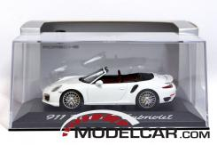 Minichamps Porsche 911 991 Turbo S convertible White